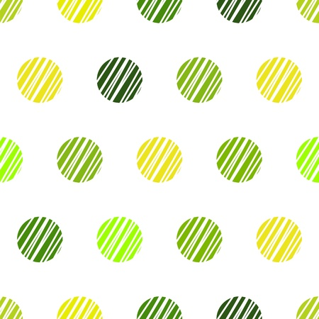 Vintage white background with green grunge polka dots seamless pattern Vector