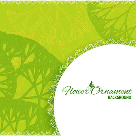 Green retro frame background with abstract tree silhouettes for your web design Stock Vector - 18490618