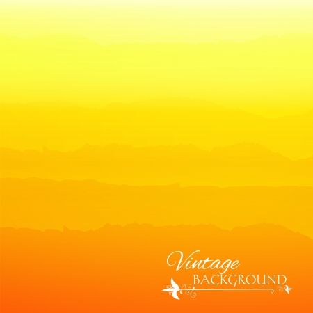 Abstract yellow gradient background with vintage stripes