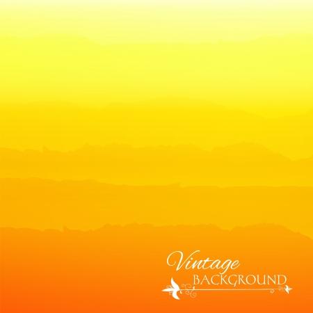 Fundo gradiente amarelo abstrato com listras do vintage Ilustra��o
