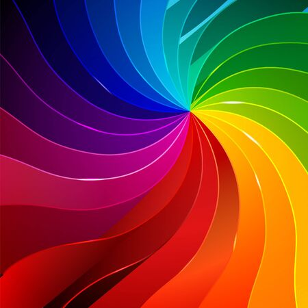 vivid colors: Colorful background with book pages rainbow for your web design Illustration