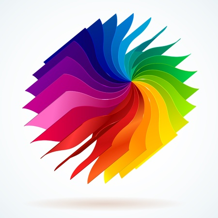 Colorful background with book pages rainbow for your web design Illustration
