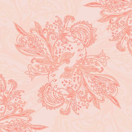 Vintage blue ethnic vector ornament background Vector