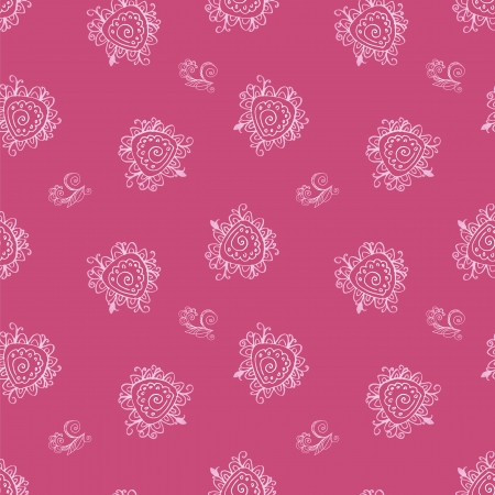 Seamless pink vintage floral abstract background for your web design Vector