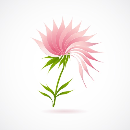 Abstract lotus flower icon isolated on white vector for your web design Vector