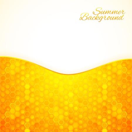 abejas panal: Resumen de antecedentes de verano con textura de la miel