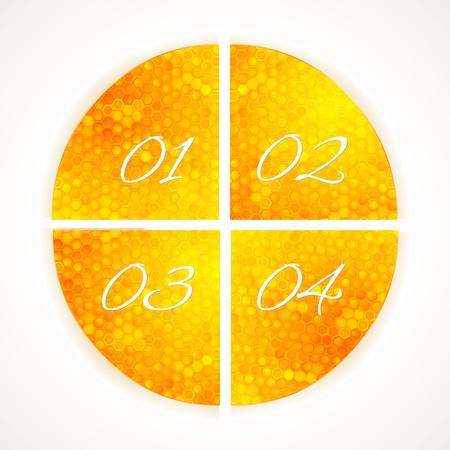 Template Infogr�ficos �cones escolha favo de mel no branco. ilustra��o vetorial