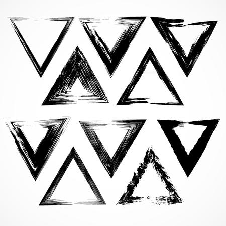 no 1: Vector set of grunge triangle brush strokes. Set No 1 Illustration