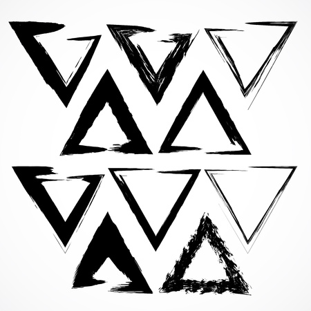 Vector set of grunge triangle brush strokes. Set No 2 Ilustracja
