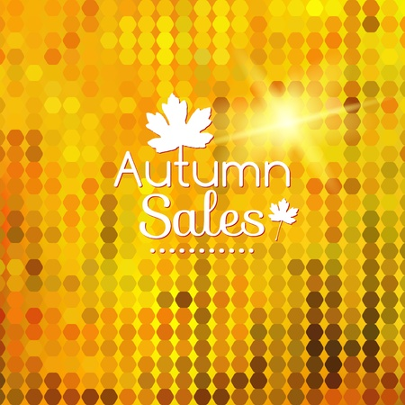 Colorful geometric background card enjoy autumn sales Vector