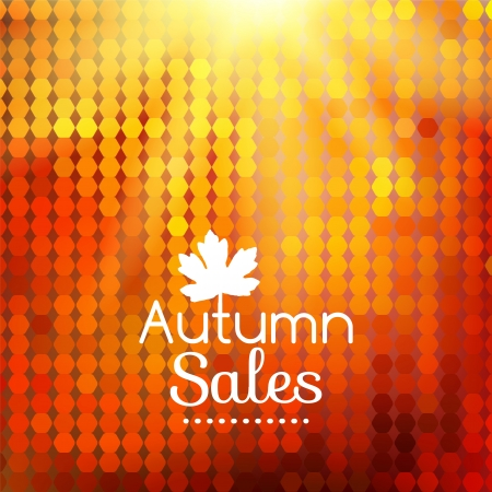Colorful geometric background card enjoy autumn sales