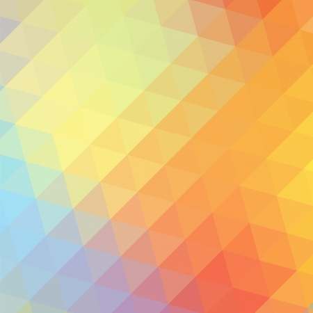 triangular banner: Colorful love rainbow background with triangles for your web design