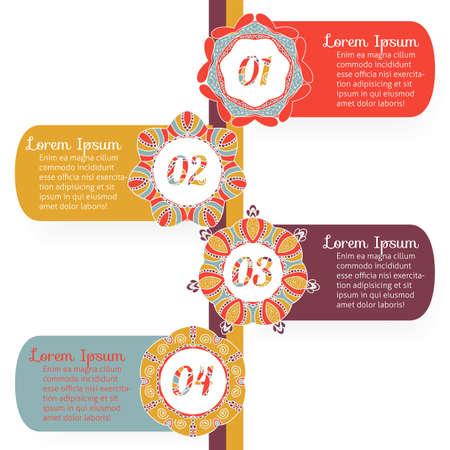 03: Infographics elements, label options 01, 02, 03, 04 with retro design. Set No2