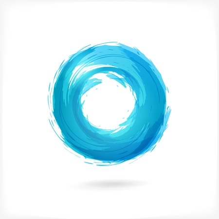 swirl background: Business Abstract Circle icon.   Illustration