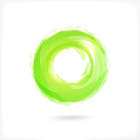 brush modern: Green Business Abstract Circle icon.
