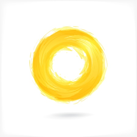 abstract waves: Yellow Business Abstract Circle icon.  Technology style.