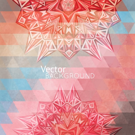 Colorful rainbow background, card with triangles for your web design Stock Vector - 21760225