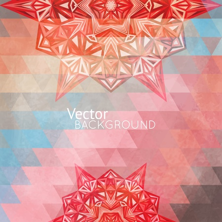 Colorful rainbow background with triangles for your web design Stock Vector - 21760222