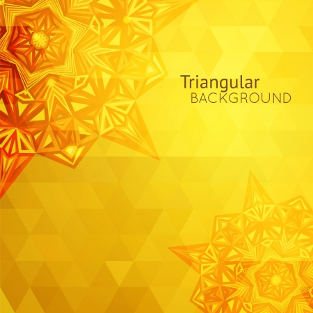 Gold yellow business background, card with triangular design for your presentation Stock Vector - 21760223
