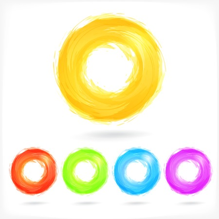 Set of Coulourful Business Abstract Circle icons.  Illustration