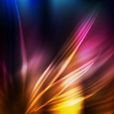 Abstract modern color background with shining waves. Vector for your business presentation Vector