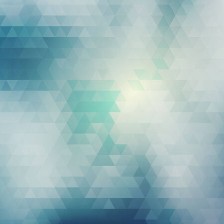 Blue abstract card geometric background with clouds and sky. Vector illustration Vector