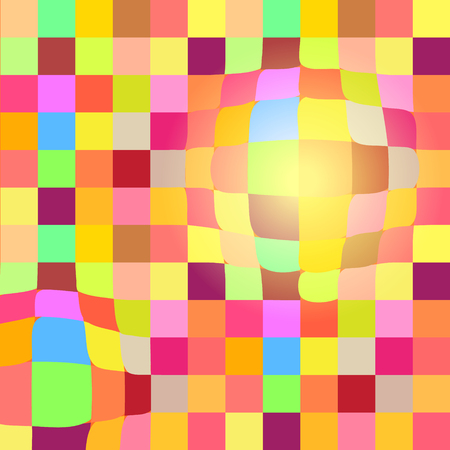 Colorful mosaic geometric background with 3D effect for your web design Vector