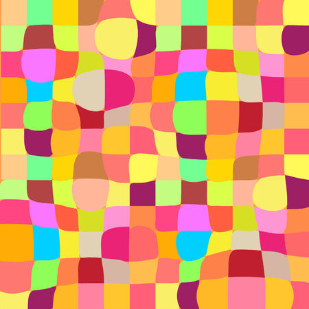 Colorful twisted mosaic geometric background with 3D effect for your web design Illustration