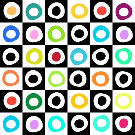 Black, white and color mosaic geometric background for your web design Vector