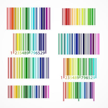Arc en ciel de couleur ensemble de codes à barres. Banque d'images - 31104855