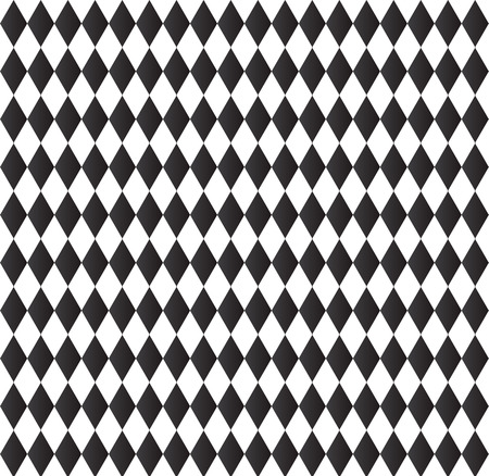harlequin: black and white background abstract geometry pattern Illustration