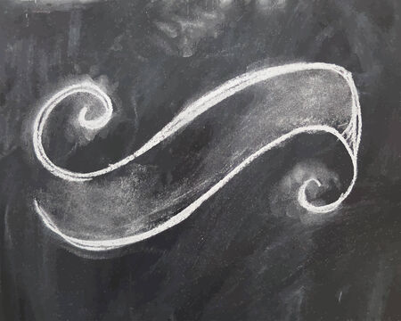 empty frame: Chalk black empty blackboard texture with frame. Vector illustration