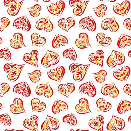 Seamless love background on white background Vector