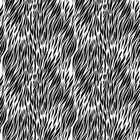 zebra print: Black and white hand drawn zebra seamless background for presentatons and textures. vector Illustration