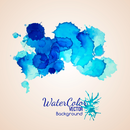 Blue color spllaters splash ink background