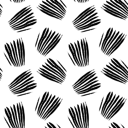 Grunge black and white seamless pattern hand drawn background for your projects Illustration