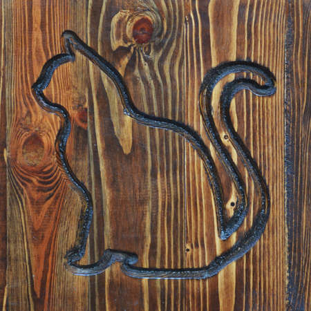 background for the design. cat on a wooden Board.