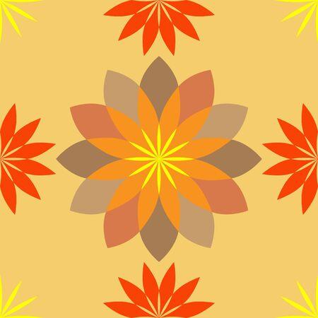 Decorative floral ornament. seamless pattern. vector illustration.
