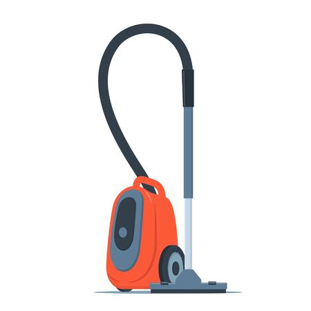 Modern vacuum cleaner. Electrical appliance for cleaning.  Vector flat style illustration, isolated