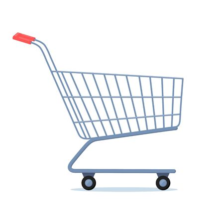 Shopping cart. Trolley Icon. Simple vector sign, trendy symbol for design, websites, presentation, mobile application. Symbol of trade, purchases, sales Vector illustration