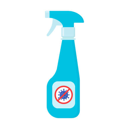 Hand sanitizers with stop covid 19 symbol. Alcohol gel hand sanitizer. Washing gel for kill most bacteria, some viruses such as corona. Covid 19 spread prevention concept. Vector illustration
