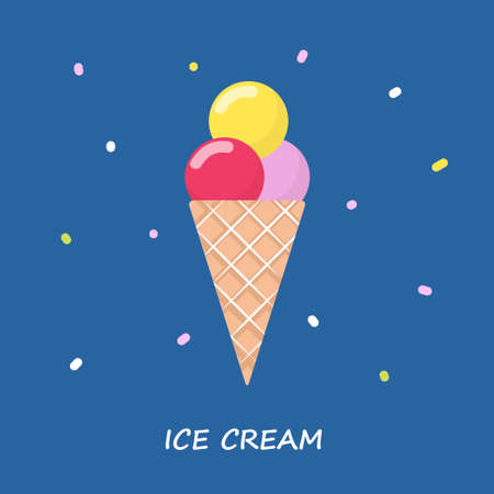 beautiful vector illustration of taste ice cream Illustration