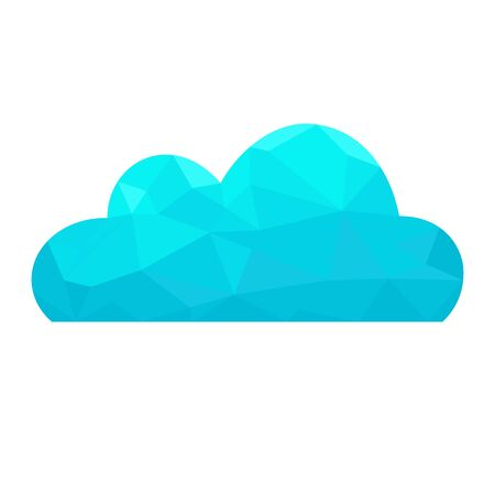 Cloud.  Abstract polygonal vector  concept. Çizim