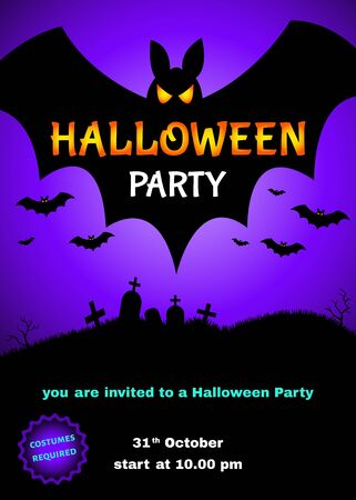appalling: Halloween  party  poster. Illustration