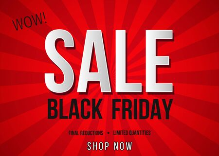 Black Friday Sale Poster Template. Vector  For Sale Poster Template