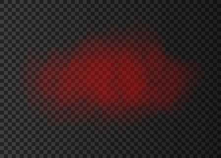 Red smoke cloud  isolated on transparent background.  Steam explosion special effect.  Realistic  vector   fire fog or mist texture .