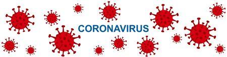 coronavirus 2019 isolated on white background. Stop  2019-nCoV virus. COVID-2019  disease outbreak. Prevent dangerous Cov infection. Vector antiviral vaccine illustration.