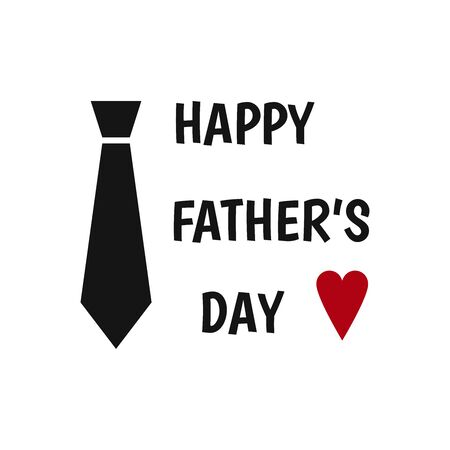Happy Father's Day label. Tie. Flat style vector  and emblems for greeting card, t-shirt design.
