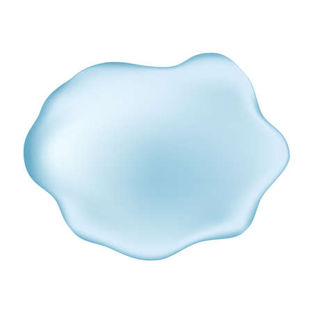 Hyaluronic acid background. Blue gel drop. Water on white background. Vector texture.