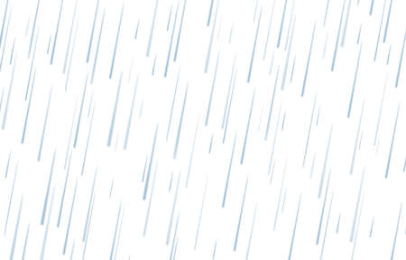 Rain drops isolated on white background. Rainfall. Realistic falling water. Vector texture. Illustration